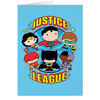 Cartes Groupe de ligue de justice de Chibi