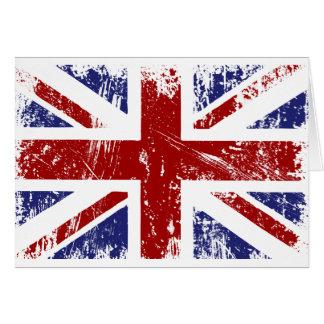 Cartes Grunge britannique de punk d'Union Jack de drapeau