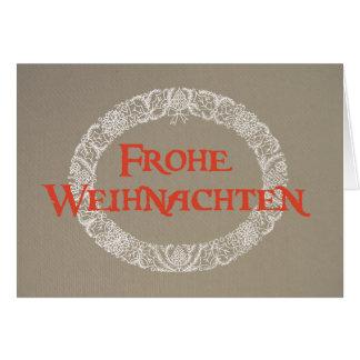 Cartes Guirlande allemande de Noël blanche et rouge sur