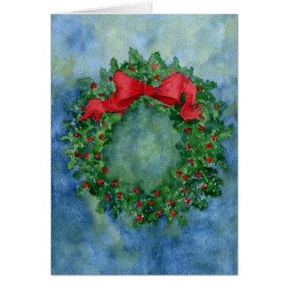 Cartes Guirlande de houx de Noël