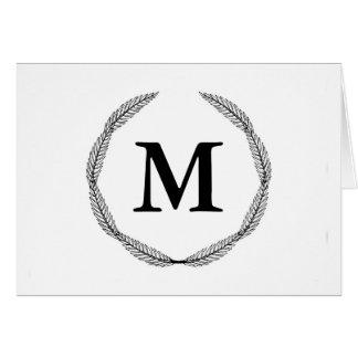 Cartes Guirlande de monogramme/laurier