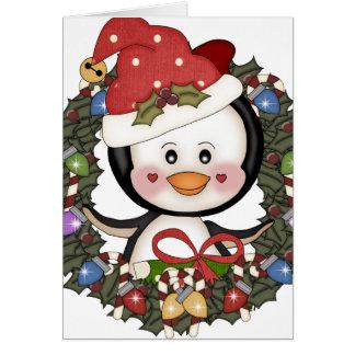 Cartes Guirlande de vacances de pingouin de Noël