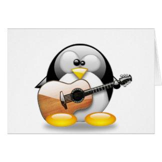 Cartes Guitare acoustique Tux (Linux Tux)