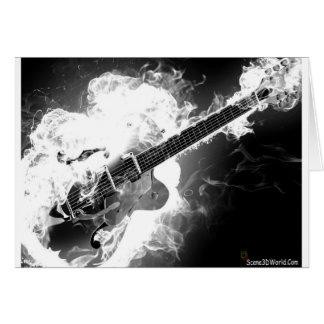 Cartes Guitare électrique de rockabilly sur le monochrome