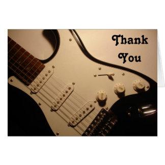Cartes Guitare électrique, note de Merci