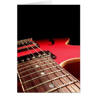 Cartes Guitare électrique rouge
