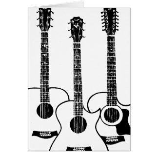 Cartes guitares acoustiques simples
