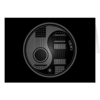 Cartes Guitares électriques acoustiques grises et noires