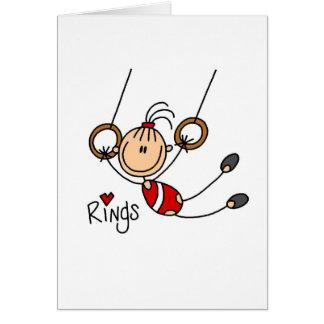 Cartes Gymnaste sur des anneaux