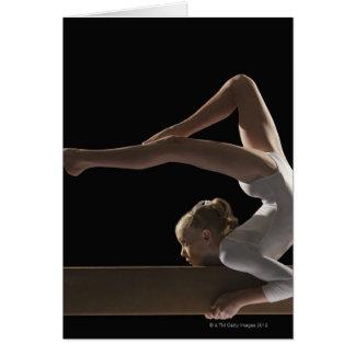 Cartes Gymnaste sur le faisceau d'équilibre