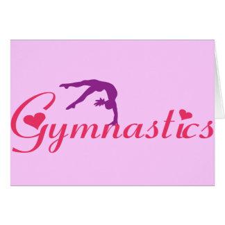 Cartes Gymnastique avec des coeurs