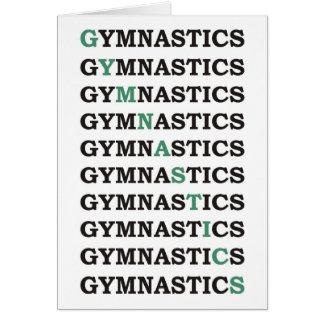 Cartes Gymnastique diagonale