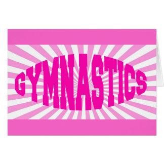 Cartes Gymnastique rose