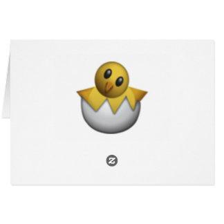Cartes Hachant le poussin - Emoji