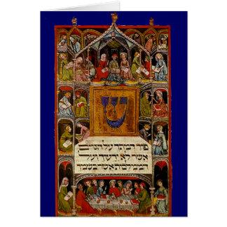 Cartes Haggadah lumineux par XIVème siècle