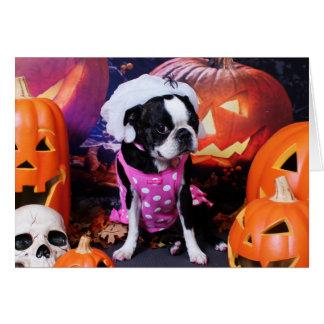 Cartes Halloween - Boston Terrier - Géorgie