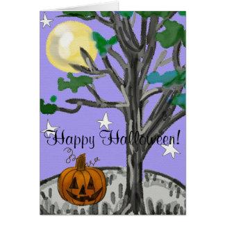 Cartes Halloween heureux éffrayant