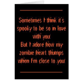 Cartes Halloween, romantique