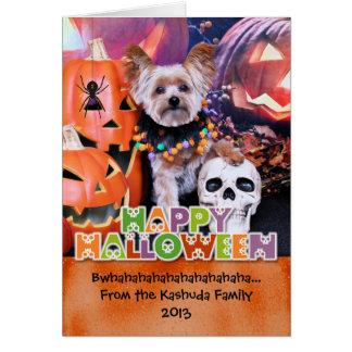Cartes Halloween - Yorkie - Vinnie