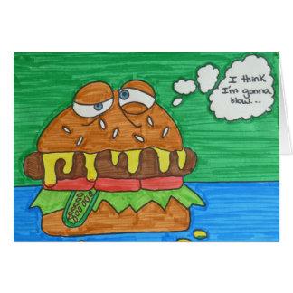 Cartes Hamburger de bande dessinée
