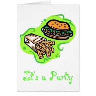 Cartes Hamburger et fritures