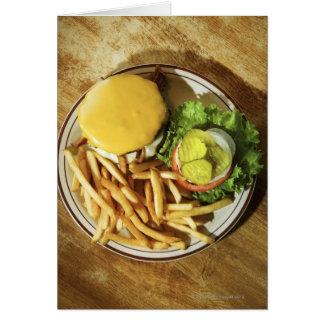 Cartes Hamburger et pommes frites