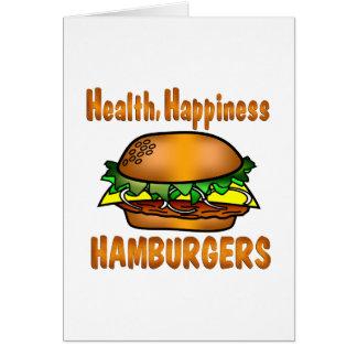 Cartes Hamburgers de bonheur de santé