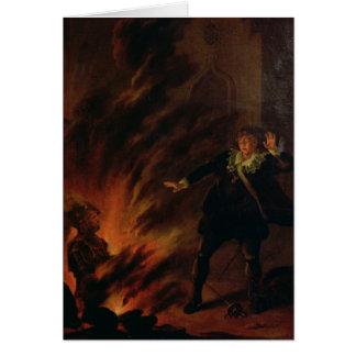 Cartes Hamlet et le fantôme de son père