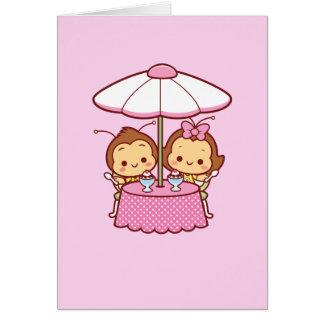 Cartes Hana et Hachi - crème glacée