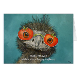 Cartes Hank l'émeu vous souhaite un joyeux anniversaire !
