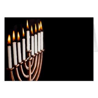 Cartes Hanoukka Chanukah Hanukah Hannukah brûlant Menorah