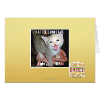 CARTES HAPPEE BURFDAY !