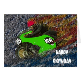 CARTES HAPPY BIRTHDAY MOTORCYCLE MOTO