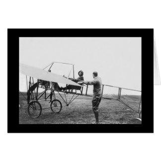 Cartes Harriet Quimby dans son avion 1911