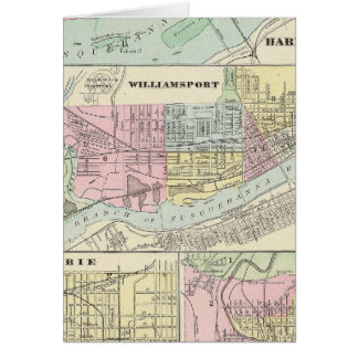 Cartes Harrisburg, Williamsport, Erie, Scranton