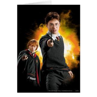 Cartes Harry Potter et Ron Weasely