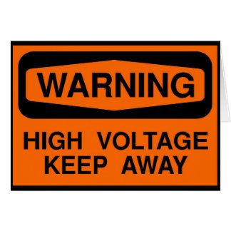 Cartes haute tension d'avertissement