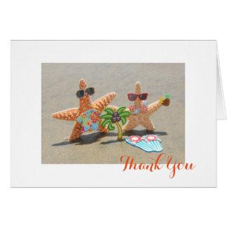 Cartes hawaïennes de Merci de couples d'étoiles de