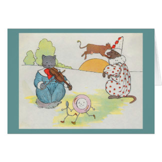 Cartes Hé, dupez, dupez !  Le chat et le violon