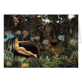 Cartes Henri Rousseau - le rêve