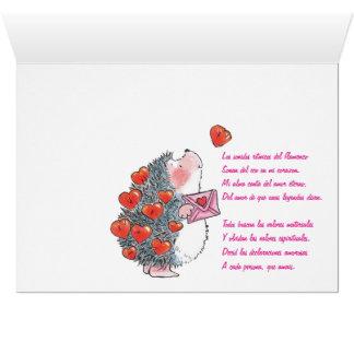 Cartes Hérissons d'amants