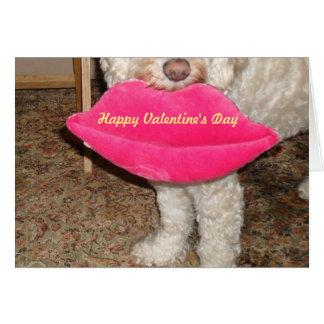 Cartes Heureuse Sainte-Valentin et un baiser de notre