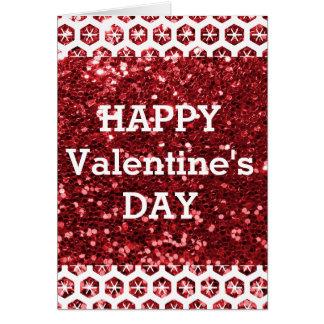 Cartes Heureuse Sainte-Valentin rouge de scintillement
