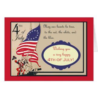 Cartes Heureux 4 juillet, Jour de la Déclaration