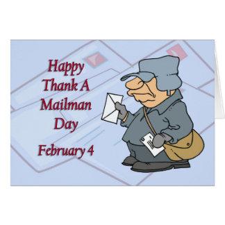 Cartes Heureux remerciez facteur jour le 4 février