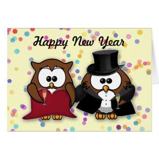 Cartes Hibou de nouvelle année