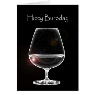 Cartes Hiccy Burpday/joyeux anniversaire avec