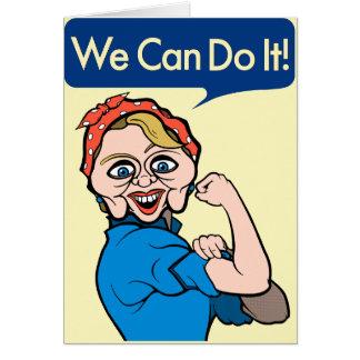 Cartes Hillary Clinton comme Rosie le rivoir