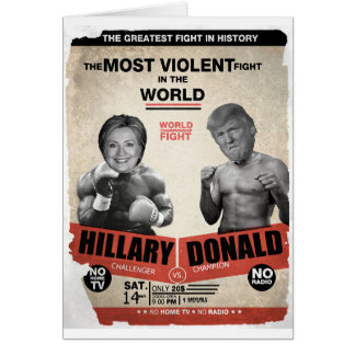 Cartes Hillary Clinton et Donald Trump 2016