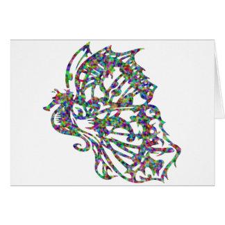 Cartes Hippocampe tribal de papillon de tatouage